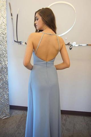 Light Sky Blue Beading Elegant 2018 Prom Dresses,Prom Dresses,Formal Women