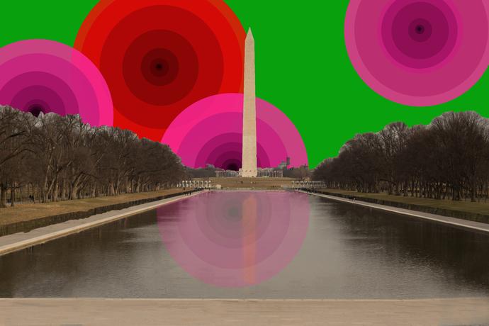 Illuminated Washington