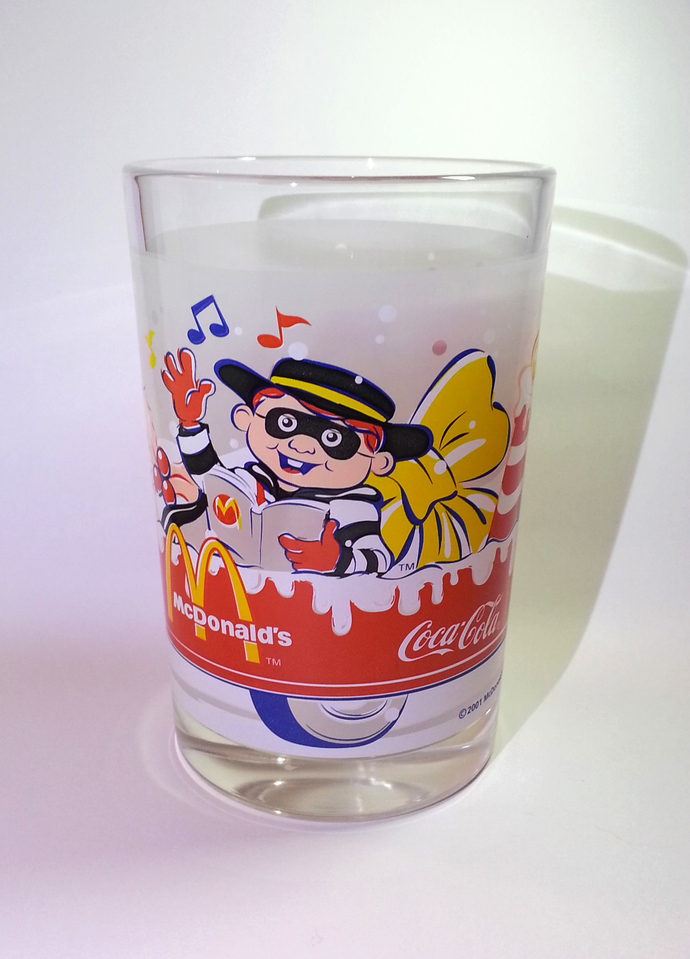 Coca Cola X McDonald's Mascot (Hamburglar) Christmas Heavy Base Drinking Water