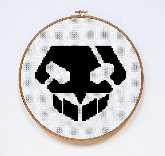 BLEACH Skull | Digital Download | Geek Cross Stitch Pattern | Anime Pattern
