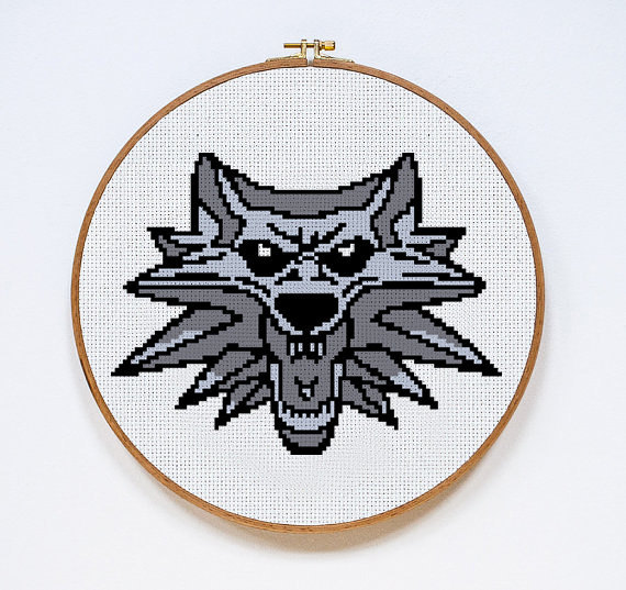 The Witcher cross stitch chart The Witcher Cross Stitch Pattern #1