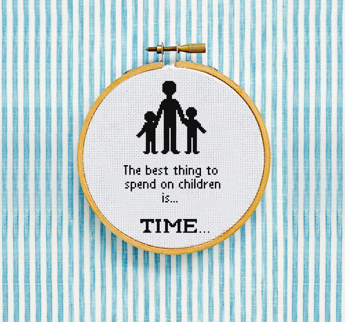 The Best thing to spend on children Cross Stitch Pattern PDF Download