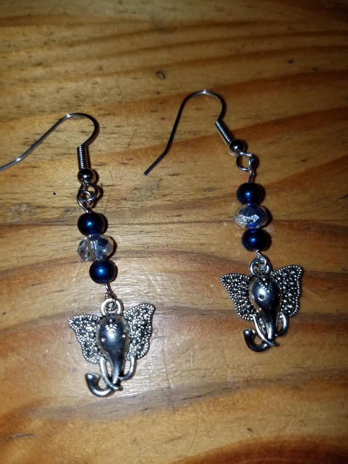 Regal Elephant Earrings