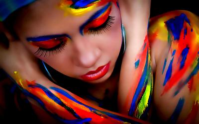 Paint - lips - romance