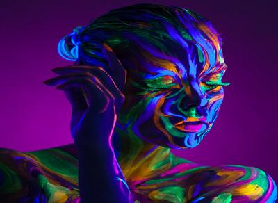 Glitter - neon - love