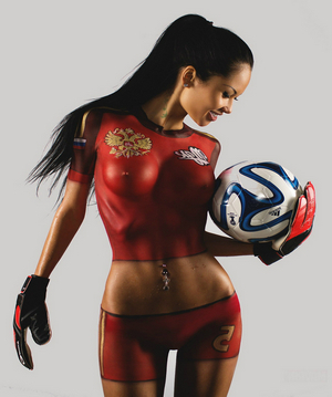 Sport - body-art - tenderness