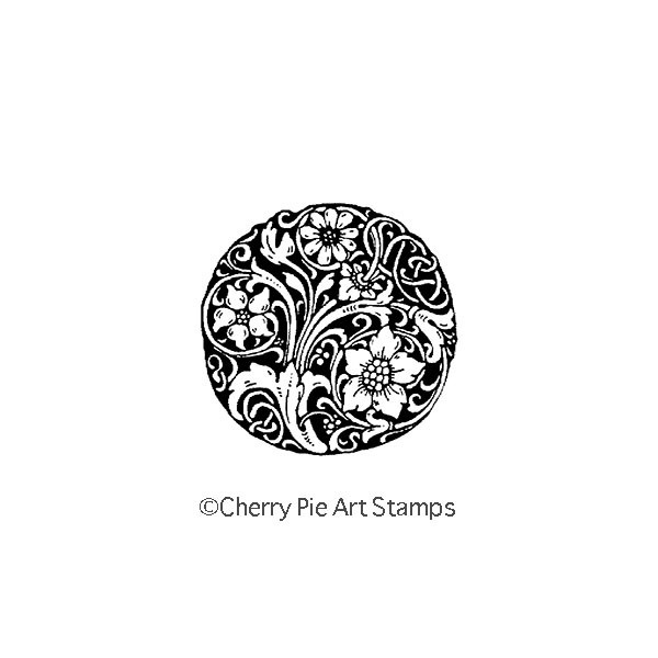 Decorative Ball -CLING RuBBer STAMP by Cherry Pie E178