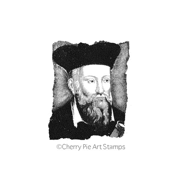 Nostradamus -CLING RuBBer STAMP by Cherry Pie L318