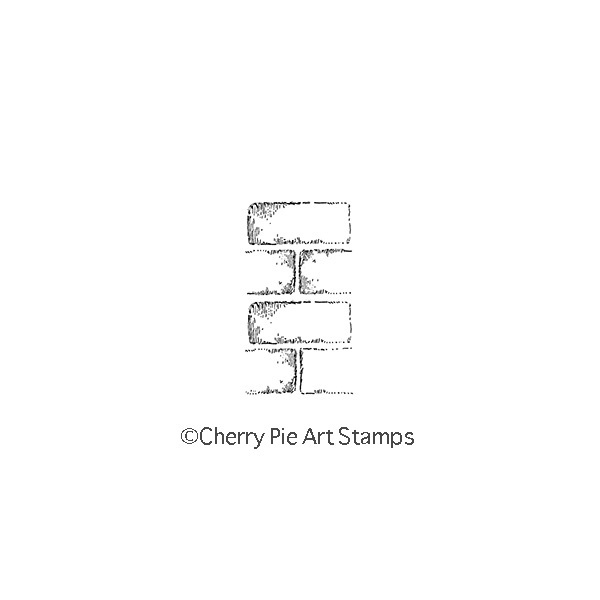 Brick wall  CLING Rubber STAMP for acrylic block C131