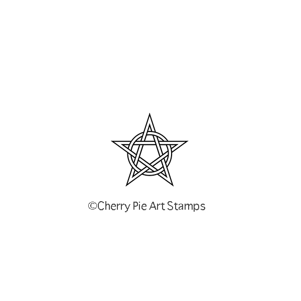 CELTIC STAR symbol- CLiNG rubber stamp by Cherry Pie Art Stamps C137