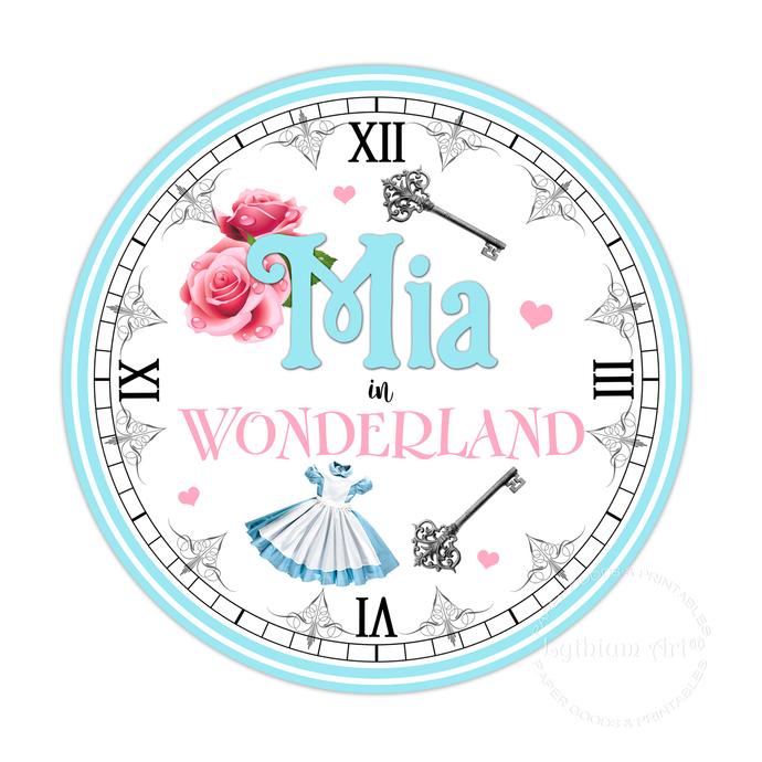 Alice in Wonderland Clock - Alice in Wonderland Printable Clock - Alice in