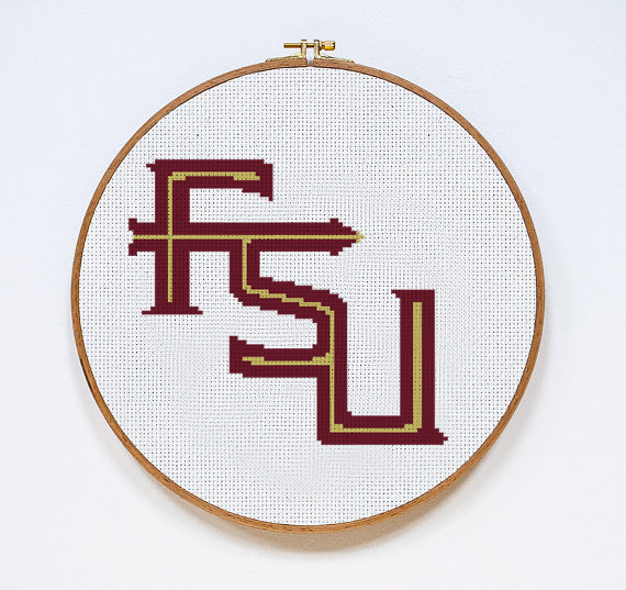 FSU Seminoles Logo | Digital Download | Sports Cross Stitch Pattern |