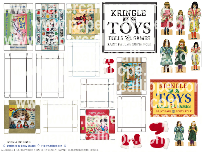 Kringle Toy Store Printable
