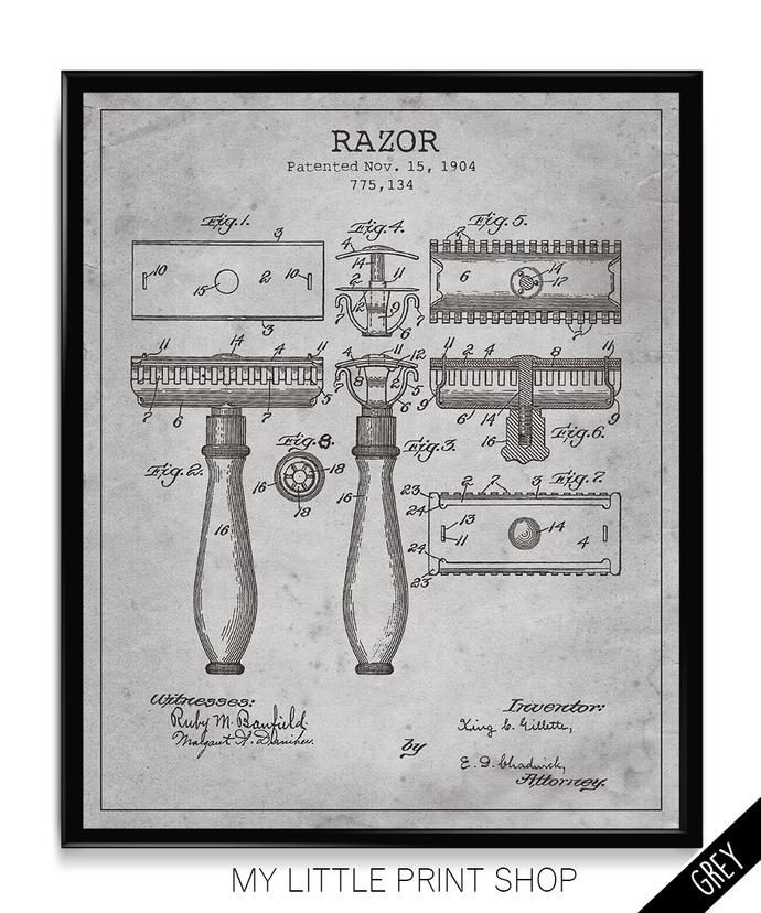 Vintage Patent Gillette Razor