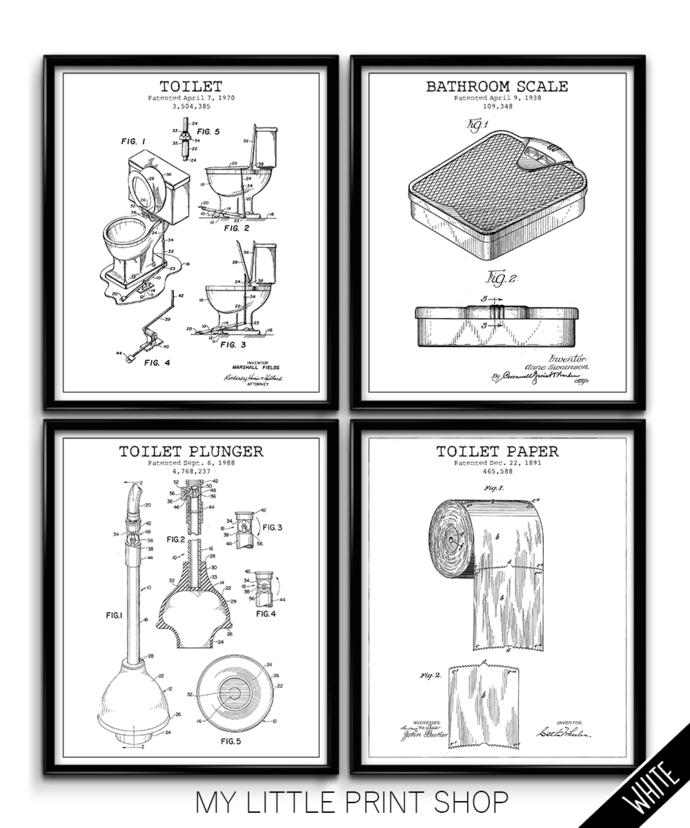 Vintage Patent Bathroom Set