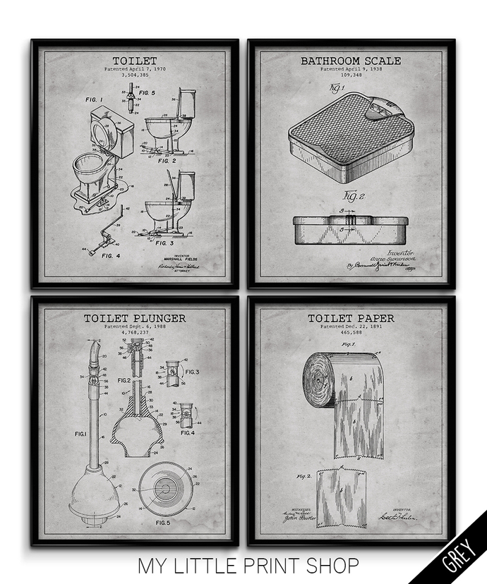 Vintage Patent Bathroom Set