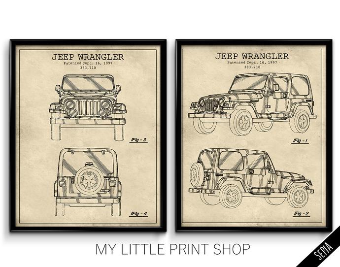 1997 Jeep Wrangler Patent Set