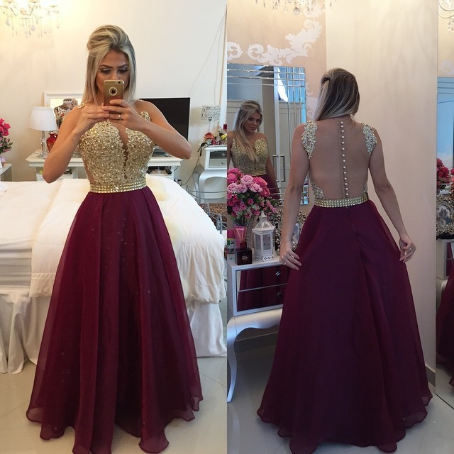 a81c9dfdc31 Sweetheart Burgundy Chiffon Long Prom Dress Popular Plus Size Formal Evening
