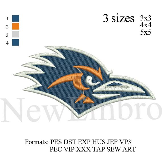 Custom Embroidery Designe Roadrunners Utsa Logo By Newembro On Zibbet
