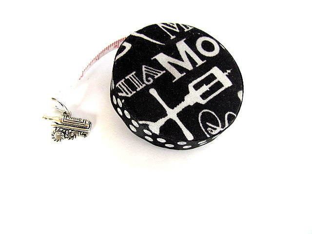 Tape Measure with Wine Theme Words Retractable Measuring Tape