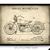 Vintage 1928 Harley Davidson Motorcycle Patent