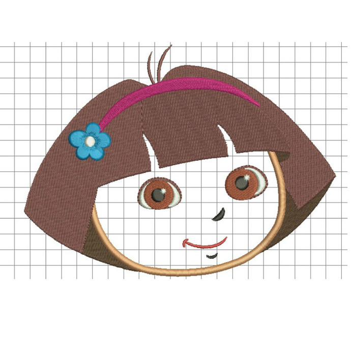 Dora embroidery designs princess design in the hoop pes files towel instant