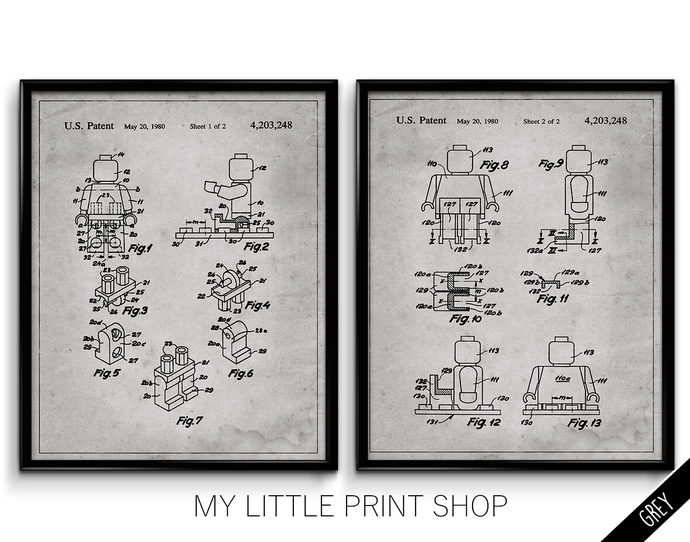 Vintage Lego Character Patent Set