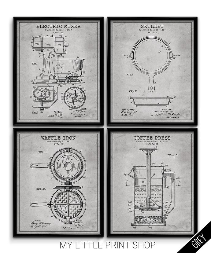 Vintage Kitchen Appliances Patent Set