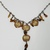 Handcrafted Copper Chain Smashed Bottle Cap Aged Paper Necklace