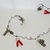 Handmade Paper Bead Snowmen Wire Garland