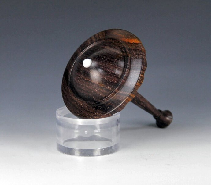 Handmade Toy Spin Top, Mexican Cocobolo Wood