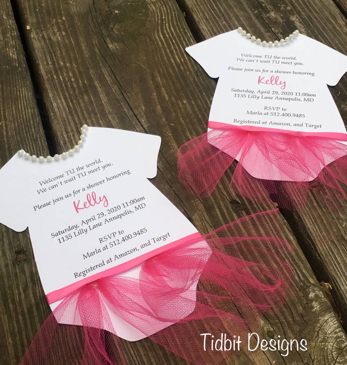 Baby Shower / TuTu or Onesie Downloadable Information Form