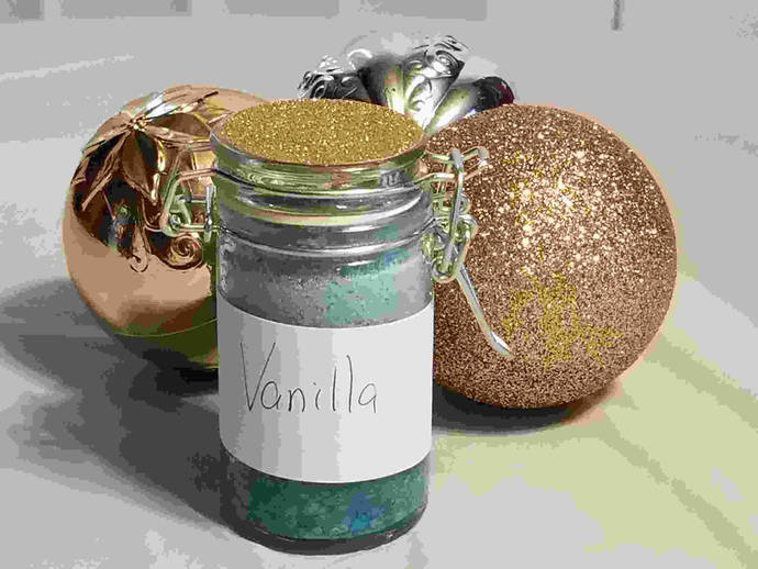 Sweet Iris Fragrances and Relaxation: Vanilla Scented Bath Salts