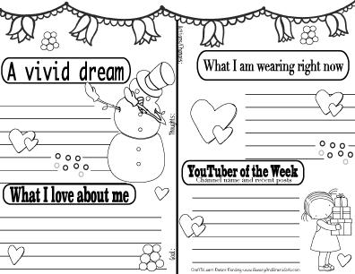 Copy of YouTuber Art Journal-Friend Coffe -Instant Download-Happy Planner-