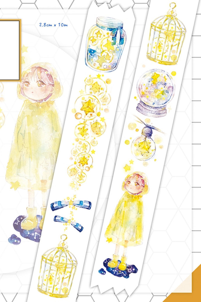 1 Roll of Limited Edition Washi Tape: Wish upon the Stars