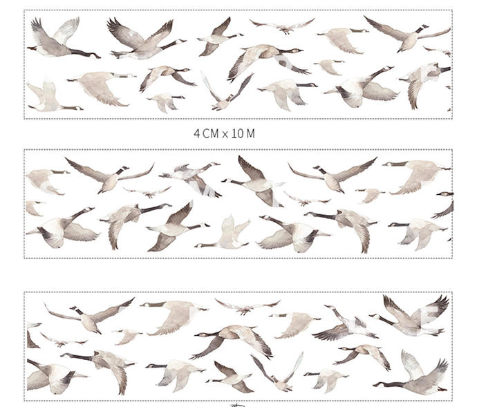 1 Roll of Limited Edition Washi Tape - Geese