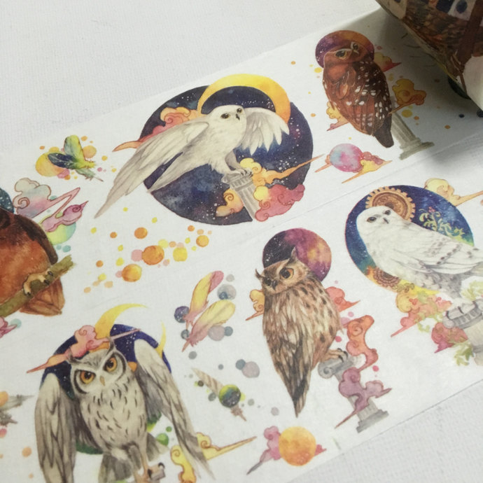 1 Roll Limited Edition Washi Tape: Magical Owls