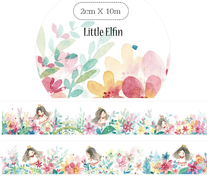 1 Roll of Limited Edition Washi Tape: Little Elfin