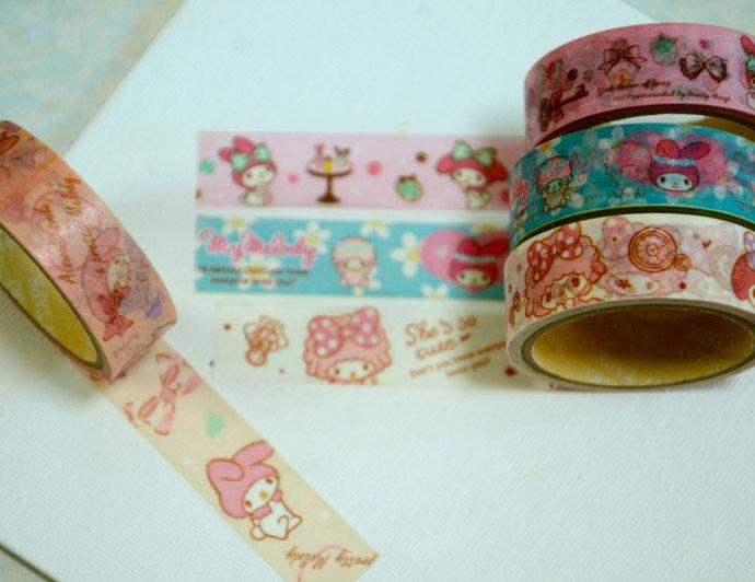 4 Rolls  Japanese Washi Masking Paper Tape : My Melody