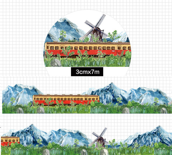 1 Roll of Limited Edition Washi Tape: Train Across the Snow Mountain