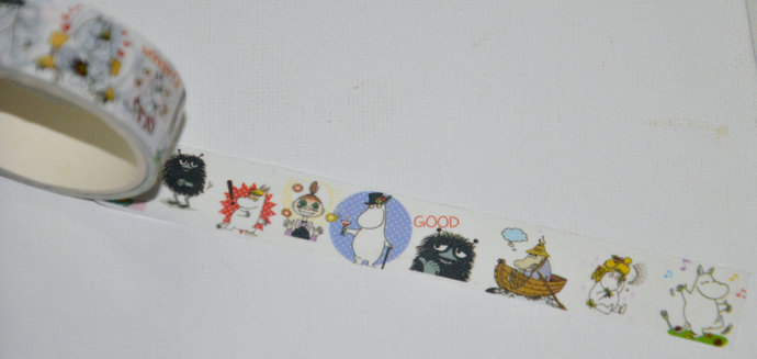 1 Roll of Japanese Anime Washi Tape: Moomin, friends, and family