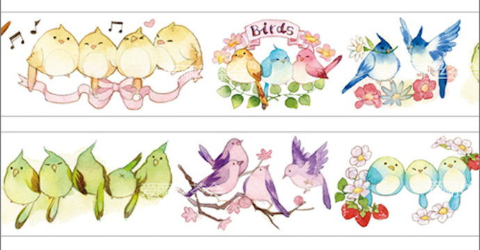 1 Roll Limited Edition Washi Tape: Song Birds
