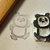 Dancing Panda- Handmade Unmounted Rubber stamp