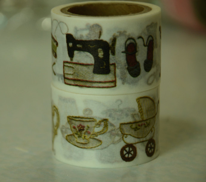 2 Rolls of Japanese Washi Tape Roll-  Home Items