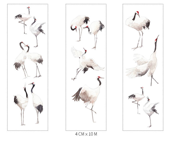 1 Roll of Limited Edition Washi Tape- Red-crowned Crane
