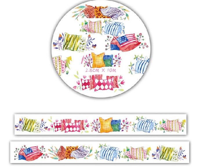 1 Roll Limited Edition Washi Tape: Lovely Cushion