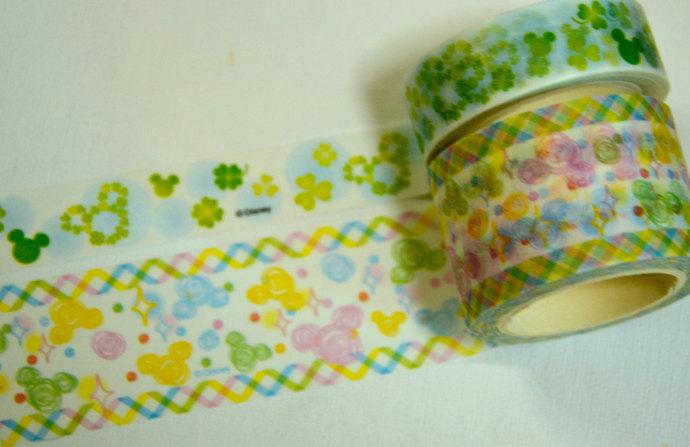 2 Rolls of Japanese Disney Washi Masking Tape:  Mickey Mouse