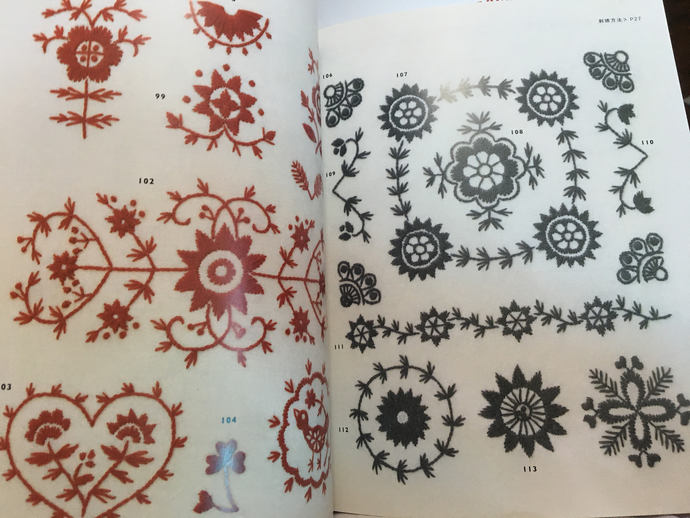500 Nordic Embroidery Motif Japanese Craft Book (In Chinese)