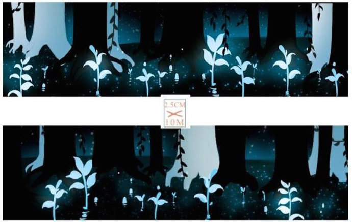 1 Roll of Limited Edition Washi Tape: Luminous Forest