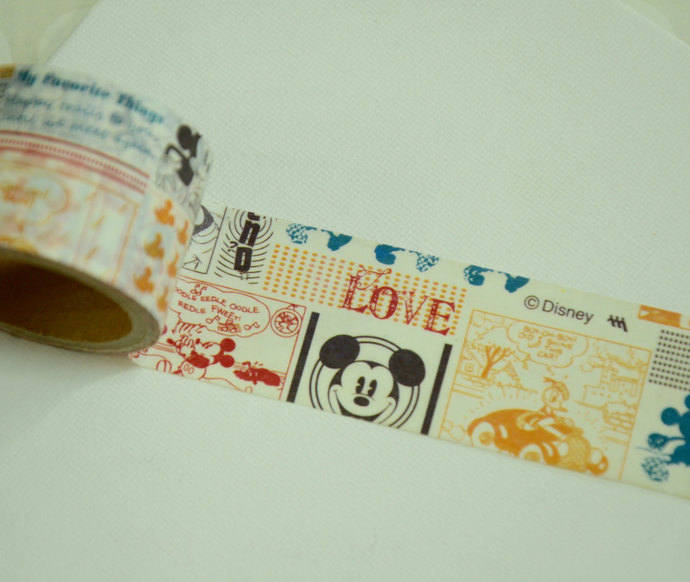 1 Roll  Japanese Disney Washi Tape : Mickey Mouse